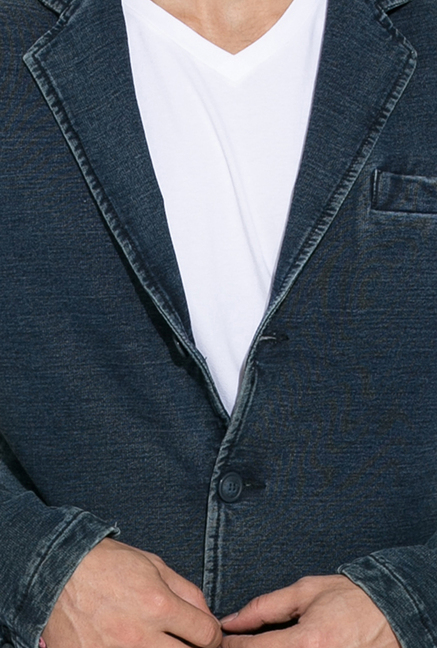 Mufti Blue Slim Fit Blazer