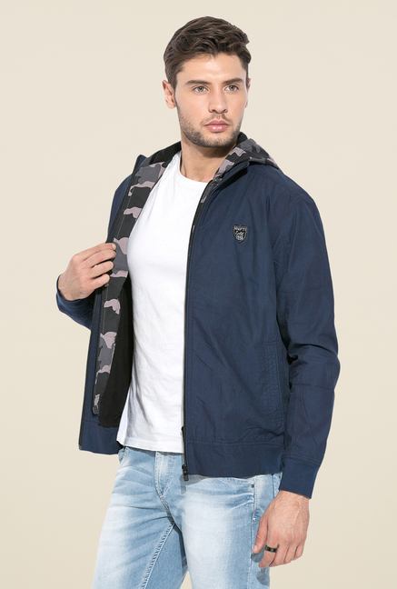 Mufti Blue Slim Fit Jacket
