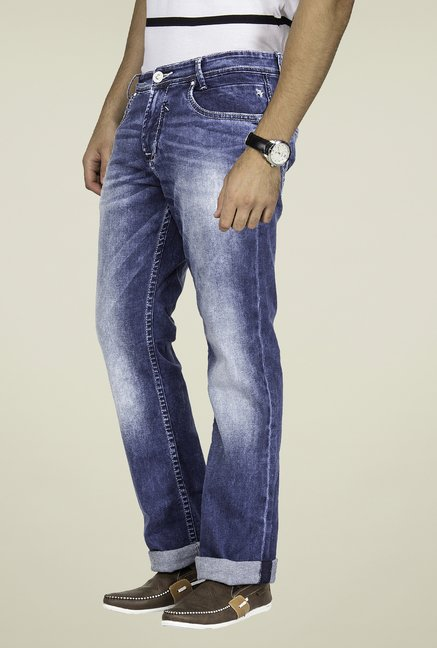 Mufti Dark Blue Straight Fit Jeans