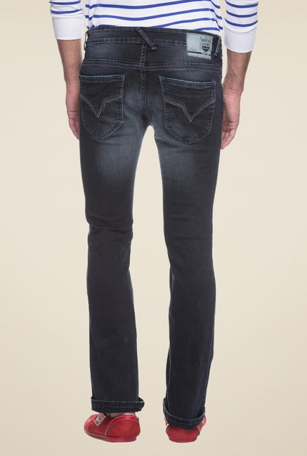 Mufti Grey Lightly Washed Skinny Fit Jeans