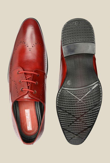 Bruno Manetti Burgundy Derby Shoes
