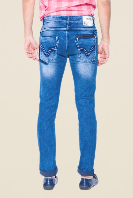 Mufti Medium Blue Slim Fit Jeans