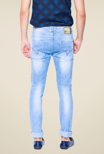 Mufti Light Blue Lightly Washed Jeans
