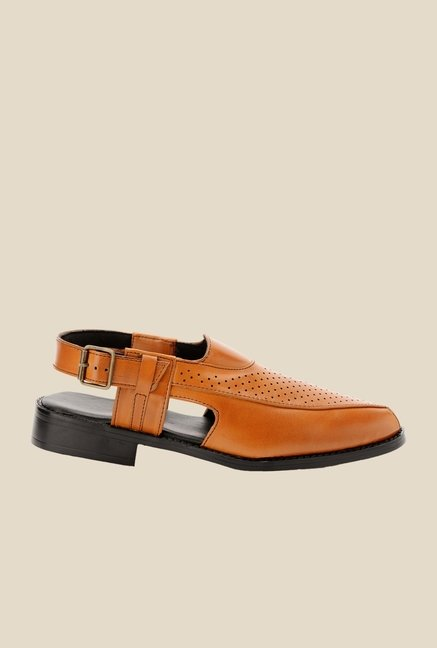Bruno Manetti Teak Back Strap Sandals