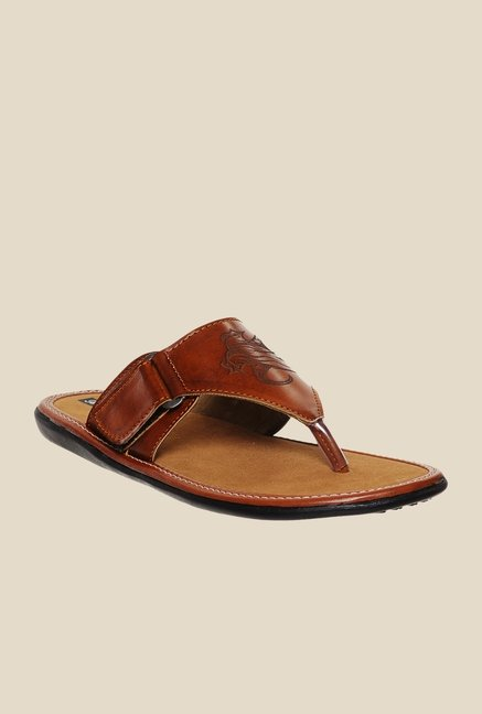 Bruno Manetti Tan Thong Sandals