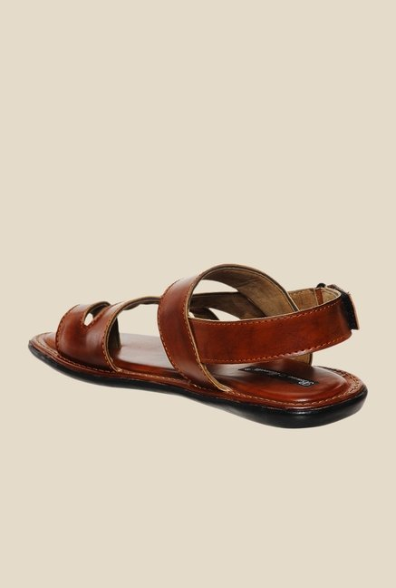 Bruno Manetti Tan Back Strap Sandals