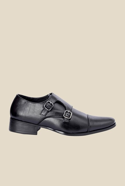 Bruno Manetti Black Monk Slip-Ons