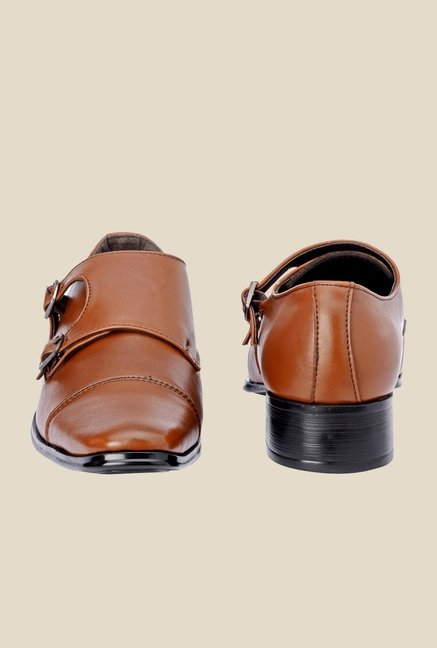 Bruno Manetti Tan Monk Slip-Ons