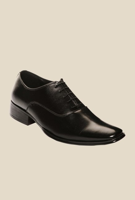Bruno Manetti Black Oxford Shoes