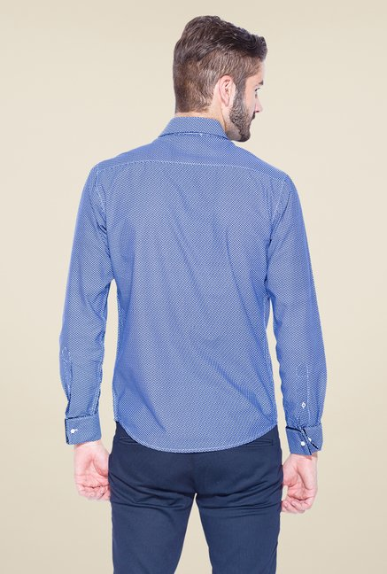 Mufti Blue Printed Shirt