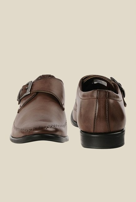 Bruno Manetti Brown Monk Slip-Ons