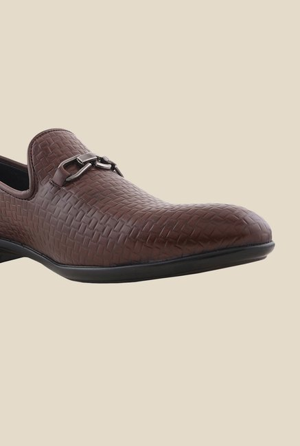 Bruno Manetti Brown Formal Slip-Ons