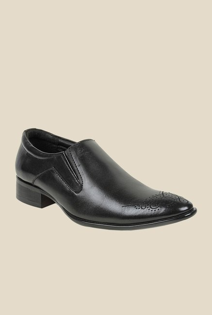 Bruno Manetti Black Formal Slip-Ons