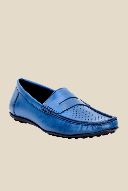 Bruno Manetti Blue Casual Loafers