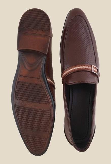 Bruno Manetti Brown Casual Slip-Ons