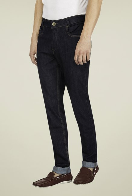 Mufti Navy Raw Denim Jeans