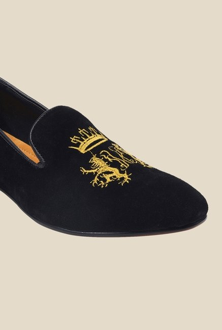 Bruno Manetti Black & Yellow Casual Loafers