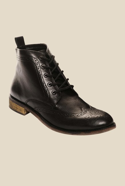 Bruno Manetti Black Brogue Boots