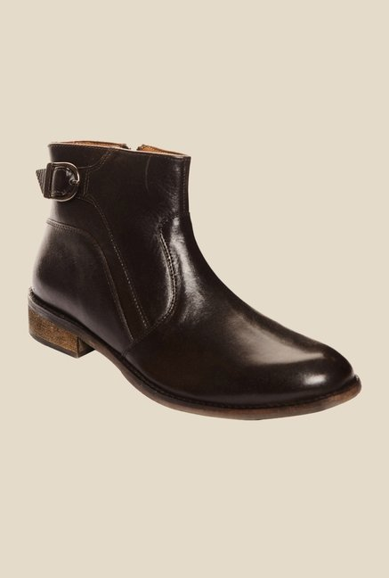 Bruno Manetti Brown Biker Boots