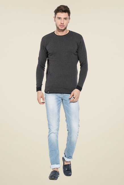 Mufti Grey Round Neck Sweatshirt