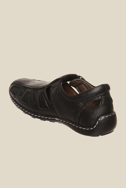 Bruno Manetti Black Fisherman Sandals