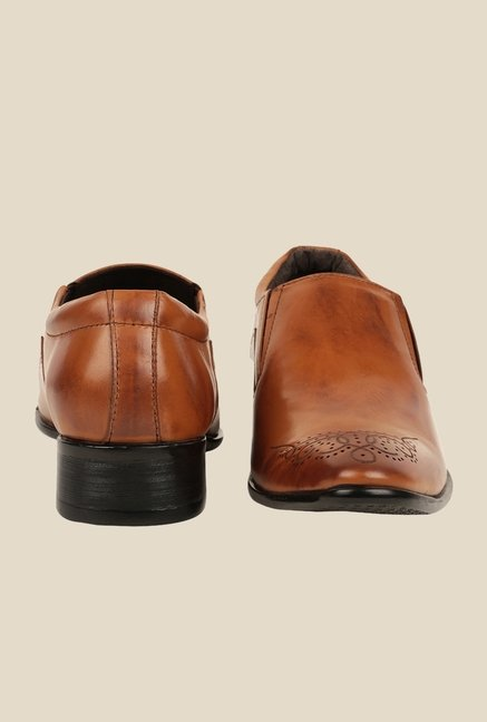 Bruno Manetti Tan Formal Slip-Ons
