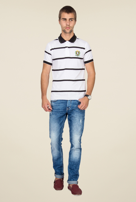 Mufti Medium Blue Distressed Jeans