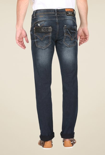 Mufti Navy Distressed Jeans