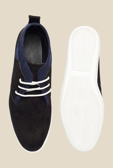 Bruno Manetti Black & Navy Chukka Shoes