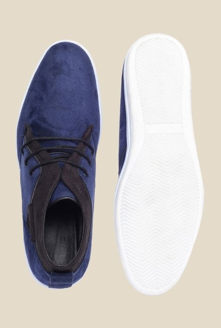 Bruno Manetti Blue & Black Chukka Shoes