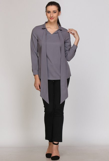 Kaaryah Grey Solid Top