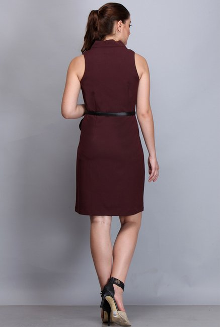 Kaaryah Wine Solid Dress