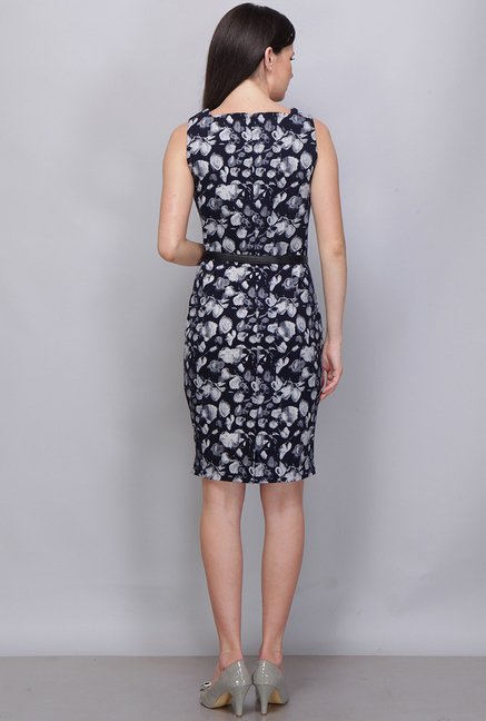 Kaaryah Navy Printed Dress