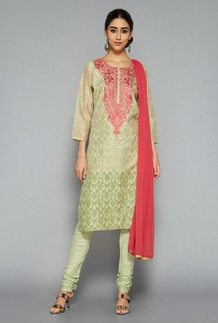 Vark by Westside Green Printed Suit Set