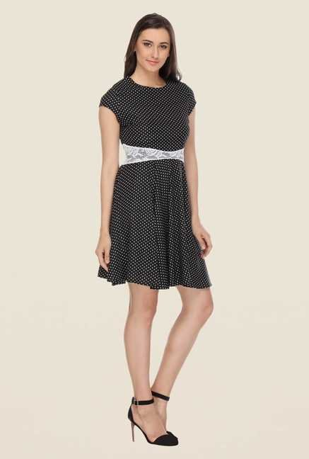 Kaaryah Black Polka Dot Dress