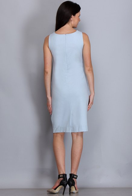 Kaaryah Light Blue Solid Dress
