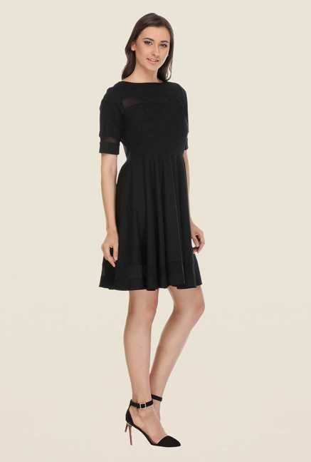 Kaaryah Black Solid Dress