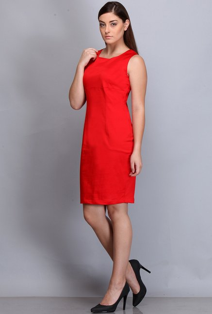 Kaaryah Red Solid Dress