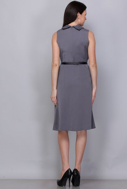 Kaaryah Grey Solid Dress