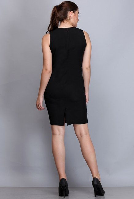 Kaaryah White & Black Solid Dress