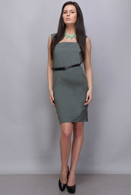 Kaaryah Green Solid Dress