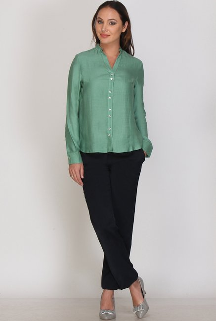 Kaaryah Green Solid Shirt