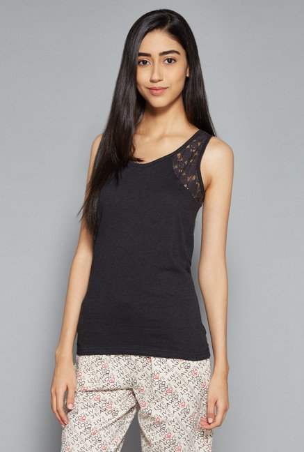 Intima by Westside Grey Lace Top