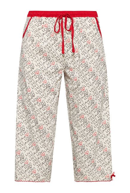 Intima by Westside Off White Printed Capris