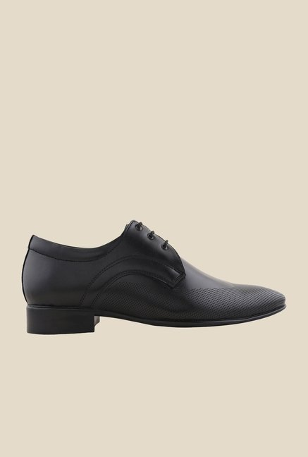 Bruno Manetti Black Derby Shoes