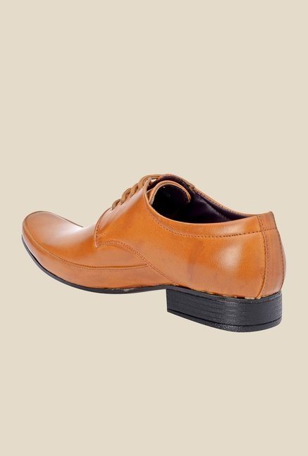 Bruno Manetti Tan Derby Shoes