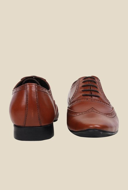 Bruno Manetti Brown Oxford Shoes