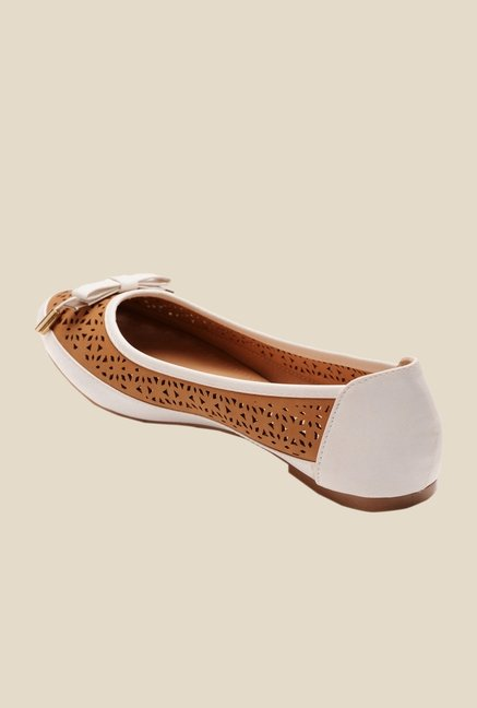 Bruno Manetti Camel & White Flat Ballets