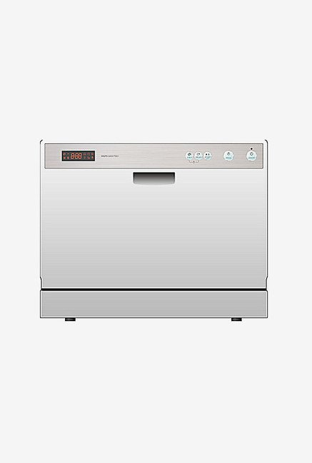 Croma CRAD0028 Dishwasher with 6 Place Settings (Silver)