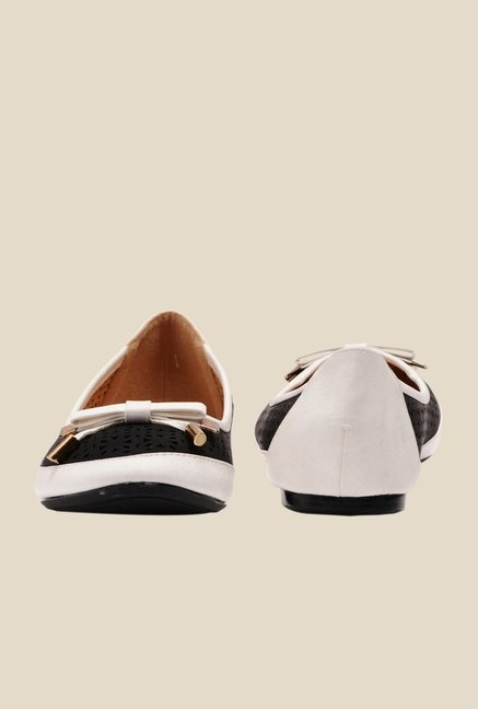 Bruno Manetti Black & Beige Flat Ballets